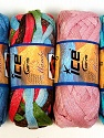 A fresh scarf  yarn wiith cotton content. Shiny and fresh! Fiber Content 70% Cotton, 30% Nylon, Mambo, Brand ICE, Yarn Thickness 6 SuperBulky  Bulky, Roving, fnt2-31354