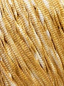 Fiber Content 100% Polyester, White, Brand ICE, Gold, Yarn Thickness 4 Medium  Worsted, Afghan, Aran, fnt2-31943