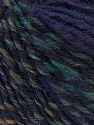 Fiber Content 5% Polyamide, 45% Wool, 30% Acrylic, 10% Mohair, 10% Alpaca, Purple, Brand ICE, Green, Black, Yarn Thickness 4 Medium  Worsted, Afghan, Aran, fnt2-32336