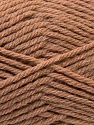 Fiber Content 70% Acrylic, 20% Wool, 10% Linen, Light Brown, Brand ICE, Yarn Thickness 4 Medium  Worsted, Afghan, Aran, fnt2-32439