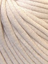This is a tube-like yarn with soft cotton fleece filled inside. Fiber Content 70% Cotton, 30% Polyester, Light Beige, Brand ICE, Yarn Thickness 5 Bulky  Chunky, Craft, Rug, fnt2-32489
