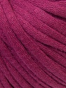 This is a tube-like yarn with soft cotton fleece filled inside. Fiber Content 70% Cotton, 30% Polyester, Purple, Brand ICE, Yarn Thickness 5 Bulky  Chunky, Craft, Rug, fnt2-32496
