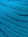 This is a tube-like yarn with soft cotton fleece filled inside. Fiber Content 70% Cotton, 30% Polyester, Turquoise, Brand ICE, Yarn Thickness 5 Bulky  Chunky, Craft, Rug, fnt2-32512