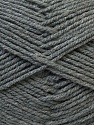 Fiber Content 100% Acrylic, Brand ICE, Grey, Yarn Thickness 3 Light  DK, Light, Worsted, fnt2-32698