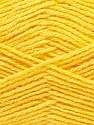 Fiber Content 100% Acrylic, Yellow, Brand ICE, Yarn Thickness 3 Light  DK, Light, Worsted, fnt2-32700