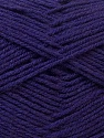 Fiber Content 100% Acrylic, Purple, Brand ICE, Yarn Thickness 3 Light  DK, Light, Worsted, fnt2-32704