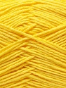 Fiber Content 50% Cotton, 50% Acrylic, Yellow, Brand ICE, Yarn Thickness 3 Light  DK, Light, Worsted, fnt2-32785