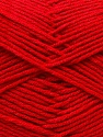 Fiber Content 50% Acrylic, 50% Cotton, Red, Brand ICE, Yarn Thickness 3 Light  DK, Light, Worsted, fnt2-32787