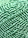 Fiber Content 50% Acrylic, 50% Cotton, Brand ICE, Baby Green, Yarn Thickness 3 Light  DK, Light, Worsted, fnt2-32793