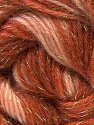 Fiber Content 8% Lurex, 52% Acrylic, 40% Angora, Salmon, Brand ICE, Copper, Brown Shades, Yarn Thickness 2 Fine  Sport, Baby, fnt2-32851