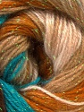 Fiber Content 8% Lurex, 52% Acrylic, 40% Angora, Turquoise, Brand ICE, Cream, Brown, Yarn Thickness 2 Fine  Sport, Baby, fnt2-32853