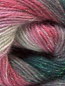 Fiber Content 8% Lurex, 52% Acrylic, 40% Angora, White, Pink, Brand ICE, Grey, Yarn Thickness 2 Fine  Sport, Baby, fnt2-32863