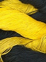 In this yarn a 100% Linen yarn is used. Dyeing process is totally hand made with natural plants and NO chemicals were used. For this reason, please be advised that some white parts may remain. Fiber Content 100% Linen, Yellow, Brand ICE, Dark Grey, Black, fnt2-32981