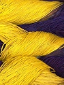 In this yarn a 100% Linen yarn is used. Dyeing process is totally hand made with natural plants and NO chemicals were used. For this reason, please be advised that some white parts may remain. Fiber Content 100% Linen, Yellow, Purple, Lilac, Brand ICE, fnt2-32982