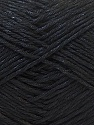 Fiber Content 50% Polyester, 50% Cotton, Brand ICE, Black, Yarn Thickness 2 Fine  Sport, Baby, fnt2-33038