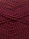 Fiber Content 94% Acrylic, 6% Lurex, Brand ICE, Copper, Burgundy, Yarn Thickness 3 Light  DK, Light, Worsted, fnt2-33066