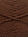 Fiber Content 94% Acrylic, 6% Lurex, Brand ICE, Copper, Brown, fnt2-33067