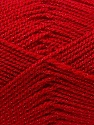 Fiber Content 94% Acrylic, 6% Lurex, Red, Brand Ice Yarns, Yarn Thickness 3 Light  DK, Light, Worsted, fnt2-33130