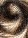 Fiber Content 75% Acrylic, 25% Angora, Brand ICE, Dark Brown, Cream, Brown Shades, Yarn Thickness 2 Fine  Sport, Baby, fnt2-33235
