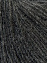 Fiber Content 50% Merino Wool, 25% Acrylic, 25% Alpaca, Brand ICE, Dark Grey, Yarn Thickness 3 Light  DK, Light, Worsted, fnt2-33797