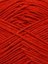 Fiber Content 67% Cotton, 33% Polyester, Tomato Red, Brand ICE, Yarn Thickness 2 Fine  Sport, Baby, fnt2-34105
