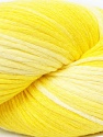 In this yarn a 100% Cotton lase yarn is used. Dyeing process is totally hand made with natural plants and NO chemicals were used. For this reason, please be advised that some white parts may remain. Fiber Content 100% Cotton, Yellow Shades, Brand ICE, Yarn Thickness 3 Light  DK, Light, Worsted, fnt2-34164