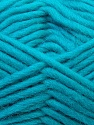 Perfect for felting in the washing machine. Shrinkage about 30%-40% İçerik 100% Yeni Yün, Turquoise, Brand ICE, Yarn Thickness 5 Bulky  Chunky, Craft, Rug, fnt2-34704