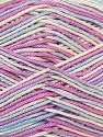 Fiber Content 100% Mercerised Cotton, White, Lilac, Brand Ice Yarns, Blue, Yarn Thickness 2 Fine  Sport, Baby, fnt2-34764