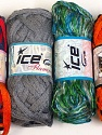 Please note that the weight and yardage information for this lot is approximate Scarf Yarns, Brand ICE, Yarn Thickness 6 SuperBulky  Bulky, Roving, fnt2-34770