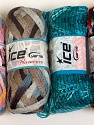 Please note that the weight and yardage information for this lot is approximate Scarf Yarns, Brand ICE, Yarn Thickness 6 SuperBulky  Bulky, Roving, fnt2-34774