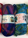Please note that the weight and yardage information for this lot is approximate Scarf Yarns, Brand ICE, Yarn Thickness 6 SuperBulky  Bulky, Roving, fnt2-34778