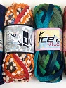 Please note that the weight and yardage information for this lot is approximate Scarf Yarns, Brand ICE, Yarn Thickness 6 SuperBulky  Bulky, Roving, fnt2-34803