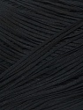 Fiber Content 95% Cotton, 5% Viscose, Brand ICE, Black, Yarn Thickness 2 Fine  Sport, Baby, fnt2-34810
