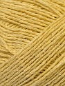 Fiber Content 34% Cotton, 33% Acrylic, 33% Polyamide, Yellow, Brand ICE, Yarn Thickness 3 Light  DK, Light, Worsted, fnt2-34876