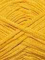 Fiber Content 50% Cotton, 50% Acrylic, Yellow, Brand ICE, Yarn Thickness 3 Light  DK, Light, Worsted, fnt2-34913