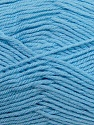 Fiber Content 50% Polyamide, 50% Acrylic, Light Blue, Brand ICE, Yarn Thickness 2 Fine  Sport, Baby, fnt2-34996