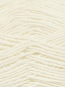 Fiber Content 50% Acrylic, 50% Wool, White, Brand ICE, Yarn Thickness 3 Light  DK, Light, Worsted, fnt2-35018