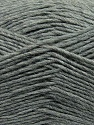 Fiber Content 50% Acrylic, 50% Wool, Brand ICE, Grey, Yarn Thickness 3 Light  DK, Light, Worsted, fnt2-35020