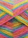 Fiber Content 70% Angora, 30% Acrylic, Yellow, Turquoise, Salmon, Pink, Lilac, Brand ICE, fnt2-35093