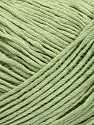This is a tube-like yarn with soft fleece inside. Fiber Content 75% Cotton, 25% Nylon, Brand ICE, Green, Yarn Thickness 4 Medium  Worsted, Afghan, Aran, fnt2-35406