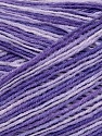 Fiber Content 50% Cotton, 50% Acrylic, Yarn Thickness Other, Lilac Shades, Brand ICE, fnt2-35437