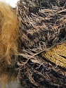 Fiber Content 5% Metallic Lurex, 45% Polyamide, 25% Acrylic, 25% Polyester, Brand ICE, Gold, Brown, Black, Yarn Thickness 5 Bulky  Chunky, Craft, Rug, fnt2-35507