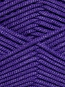 This is a tube-like yarn with soft fleece inside. Fiber Content 73% Viscose, 27% Polyester, Purple, Brand ICE, fnt2-35609