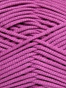This is a tube-like yarn with soft fleece inside. Fiber Content 73% Viscose, 27% Polyester, Orchid, Brand ICE, fnt2-35611