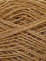 Fiber Content 60% Polyester, 40% Lurex, Light Brown, Brand ICE, Yarn Thickness 5 Bulky  Chunky, Craft, Rug, fnt2-35772