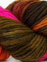In this yarn a 100% Wool yarn is used. Dyeing process is totally hand made with natural plants and NO chemicals were used. For this reason, please be advised that some white parts may remain. Fiber Content 100% Wool, Orange, Brand ICE, Green, Fuchsia, Brown, Yarn Thickness 4 Medium  Worsted, Afghan, Aran, fnt2-36260