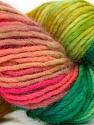 In this yarn a 100% Wool yarn is used. Dyeing process is totally hand made with natural plants and NO chemicals were used. For this reason, please be advised that some white parts may remain. Fiber Content 100% Wool, Pink Shades, Brand ICE, Green Shades, Yarn Thickness 4 Medium  Worsted, Afghan, Aran, fnt2-36261