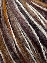 Fiber Content 36% Wool, 30% Acrylic, 20% Polyamide, 14% Mohair, White, Brand ICE, Brown Shades, Yarn Thickness 4 Medium  Worsted, Afghan, Aran, fnt2-36541