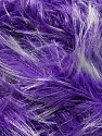 Fiber Content 100% Polyester, White, Lavender, Brand Ice Yarns, Yarn Thickness 5 Bulky  Chunky, Craft, Rug, fnt2-36739