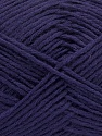 Fiber Content 65% Cotton, 35% Acrylic, Purple, Brand ICE, Yarn Thickness 2 Fine  Sport, Baby, fnt2-37109